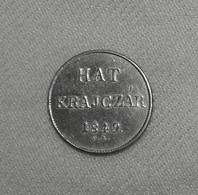 Silber/Silver Ungarn/Hungary Unabhängigkeitskrieg/Independence War Franz Joseph I,1849 NB,6 Kreuzer/Hat Krajczar Vz+/xf+ - Ungarn