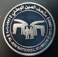 "United Arab Emirates 50 DIRHAMS 2001 Silver Proof ""30th Anniversary Al-Ain National Museum"" (shipping Via Registered) - Emirats Arabes Unis"
