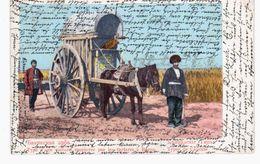 Type D'une Yoiture Employee Par Les Tartares A Bacou 1906 OLD POSTCARD 2 Scans - Azerbaïjan