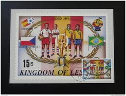 Coupe Du Monde Football World Cup 1962 Chili Chile Carte Maximum Card Lesotho - Coupe Du Monde