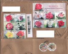 Pakistan: Used Cover Bangladesh To Pakistan ( Rose Flowers Stamps) - Pakistan