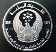 """United Arab Emirates 50 DIRHAMS 2001 Silver Proof """"25th Anniversary - Armed Forces Unificatio"""" (shipping Via Registered) - Emirats Arabes Unis"""