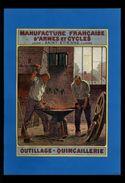 PUBLICITES - Manufacture De St Etienne - Maréchal Ferrand - Pub Issue D'une Revue De 1934 Et Collée Sur Feuille, Enclume - Publicités