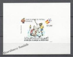 Mauritanie - Mauritania 1980 Yvert A199, Spain 82, Football World Cup - Non Perforated Mate  - Airmail - MNH - Mauretanien (1960-...)