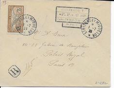 SPM - 1926 - ENVELOPPE RECOMMANDEE Avec MIXTE CACHET De PORT PAYE 0.30 + COMPLEMENT => PARIS - St.Pierre & Miquelon
