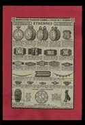 PUBLICITES - Montres - Bijous - Pub Issue D'une Revue De 1932 Et Collée Sur Feuille - Publicités