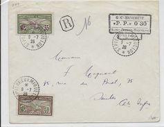 SPM - 1926 - ENVELOPPE RECOMMANDEE Avec MIXTE CACHET De PORT PAYE 0.30 + COMPLEMENT => SAINTES - St.Pierre & Miquelon