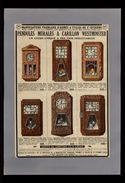 PUBLICITES - Pendules Westminster Et Horloges à Carillon - Pub Issue D'une Revue De 1936 Et Collée Sur Feuille - Werbung