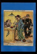 DESSIN - Dessin De SAMIVEL Issu D'une Revue De 1924 Et Collée Sur Feuille - Gendarme - Ivrogne - Vieux Papiers