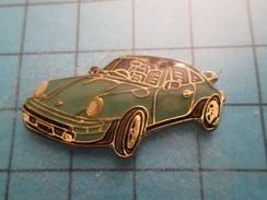 Pin613F Pin's Pins : Grand Et Beau Pin's PORSCHE BLEU-VERT   ; Marquage Au Dos : - ---- - - Porsche