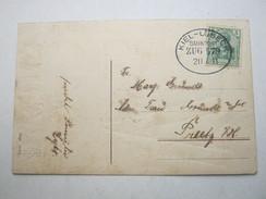 1911 , KIEL - LÜBECK ,  Klarer Bahnpost Stempel Auf Karte - Brieven En Documenten
