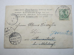 1904 , Heide - Büsum ZUG 1145 , Bahnpost Stempel Auf Karte - Allemagne