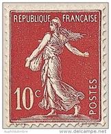 Type Semeuse Fond Plein Avec Sol. 10c. Rouge (I) Y134 - Frankreich