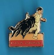 1 PIN'S //  ** C.D.A. ** G.RADO ** COURSE CAMARGUAISE ** - Bullfight - Corrida