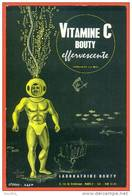 "Buvard  ""  Vitamine C  Bouty  "" Laboratoires Bouty - Scaphandrier - Chemist's"