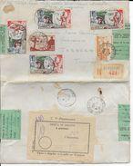 SPM - 1950 - SUPERBE ENVELOPPE RECOMMANDEE De ST PIERRE Avec ETIQUETTE De DOUANE => TABARKA (TUNISIE) - St.Pierre & Miquelon