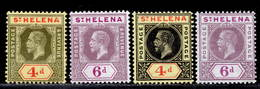 St. Helena 1912-1913 MH Set SG 83/86 Cat £41 - St. Helena