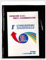 8458   -    RIMINI  1.10.1981   /   1° CONGRESSO NAZ.  FEDERAZIONE  CISL P.T. - Sindacati