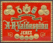 1437 - Espagne - Andalousie - Etiquette Générique Gaufrée - A.R.Valdespino - Jerez - Etiquettes