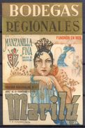 1440 - Espagne - Andalousie - Manzanilla Fina - Marilú - Bodegas Regionales S.A. - Sanlucar De Barrameda / Jerez - Etiquettes