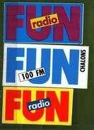 Autocollant   -     Lot De 3 Couleurs Différentes  -  FUN Radio - Autocollants