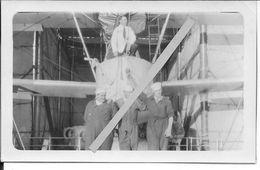 Années 30 Hydravion Viking 00 Us Navy Coast Guards Pilote Et Marins Mécaniciens Sur Le Pont 1 Photo - Aviation