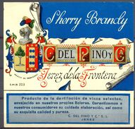 1446 - Espagne - Andalousie - Sherry Brandy - C Del Pino Y Cia. - Jerez De La Frontera - Etiquettes