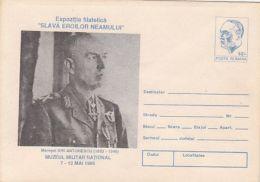 MILITARIA, MARSHAL ION ANTONESCU, COVER STATIONERY, ENTIER POSTAL, 1995, ROMANIA - Militaria