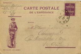 CARTE FM ESPERANCE NOS ALLIES LES SERBES 1917 - Marcophilie (Lettres)