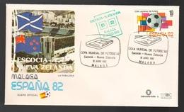 Spagna Mundial 1982 SCOZIA - NUOVA ZELANDA A Malaga FDC Football Soccer Calcio - FDC