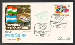 Espana Spagna Mundial De Futbol 1982 UNGHERIA - EL SALVADOR A Elche FDC Football Soccer Calcio - FDC