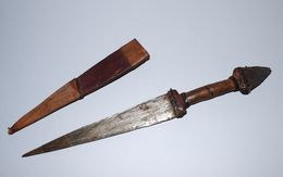 Couteau Poignard Africain - Origine Inconnue A Définir - 29 Cm - Armes Blanches