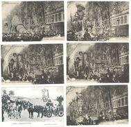 6 Cpa : Carnaval De Nice 1905 (5 Cp) Et Bataille De Fleurs - Carnaval