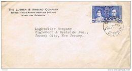 26211. Carta HAMILTON (Bermuda) 1937. Fire And Marine Insurance - Bermudas