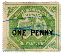 (I.B) Great Northern Railway : Newspaper Parcel 1d (large Format) - 1840-1901 (Victoria)