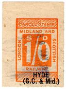 (I.B) London Midland & Scottish Railway : Parcel 1/- (Hyde Great Central) - 1840-1901 (Victoria)