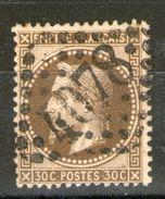 N° 30b°_brun-noir_GC 4078=Valenciennes_cote 45.00 - 1863-1870 Napoléon III. Laure