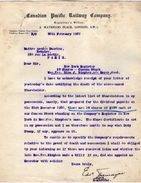 VP11.367 - Letter - Lettre De La Cie Canadian Pacific Railway Company à LONDON ( Londres ) - Royaume-Uni