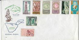 Pli Souvenir De Tenerife 1971, Carte Géographique, Pic Du Teide, Abeille - 1931-Aujourd'hui: II. République - ....Juan Carlos I
