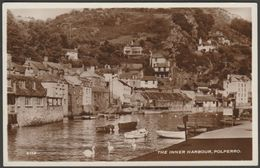 The Inner Harbour, Polperro, Cornwall, 1958 - Constance RP Postcard - England