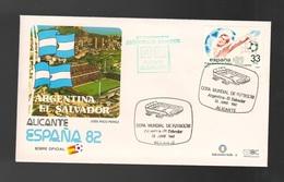 Espana Spagna Alicante Mundial Futbol 1982 ARGENTINA  EL SALVADOR FDC Football Soccer Calcio - FDC