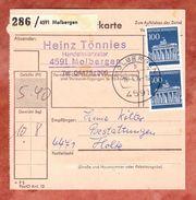 Paketkartenteil, MiF Unfallverhuetung + Brandenburger Tor, Molbergen Nach Holte 1974 (42977) - BRD