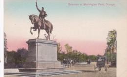 Illinois Chicago Washington Monument & Washington Park Entra