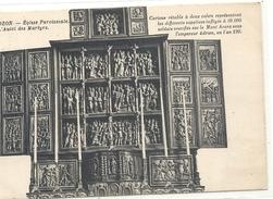 64. CROZON . EGLISE PAROISSIALE . L'AUTEL DES MARTYRES + HIST . AFFR AU VERSO LE 23-8-1928 . 2 SCANES - Crozon