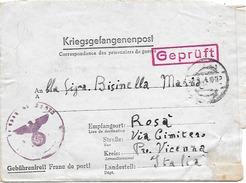 WW2 1944 Prigionieri Di Guerra - Corrispondenza Dalla Germania Per Rosà (Vicenza) - Feldpost 16106 - Prigione E Prigionieri