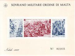 1968 S.M.O.M NATALE FOGLIETTO  NUOVO MNH** - Malte (Ordre De)