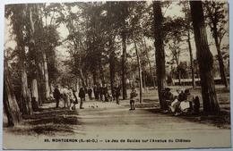 LE JEU DE BOULES SUR L'AVENUE DU CHATEAU  - MONTGERON - Montgeron