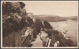 Pont River From Mount Pleasant, Fowey, Cornwall, 1934 - Photochrom Postcard - England