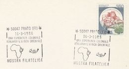 1986 COVER Italy COLONIAL AFRICA EXHIBITION EVENT Card Prato  Stamps Map Of Africa - Geography
