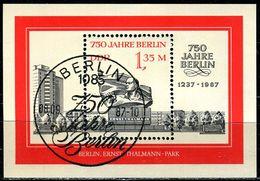 DDR - Michel Block 89 = 3123 - OO Gestempelt (D) - 1,25M  750 Jahre Berlin III - [6] Oost-Duitsland